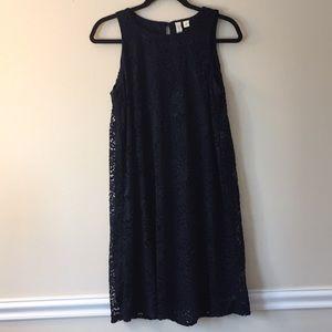 Crochet Navy Dress (size M)